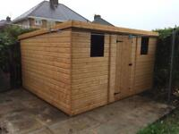 8x8 PENT ROOF GARDEN SHEDS (HIGH QUALITY) £589.00 ANY SIZE (FREE DELIVERY AND INSTALLATION)