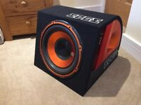 EDGE ED512A Base Reflex Car Subwoofer 900 Watts, Never Used, All Wires Included