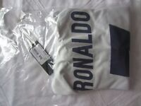 Real Madrid Ronaldo number 7 home shirt, age 11-12 years: new with tags