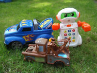Interactive Bundle: Children's Remote Controlled Car, Learning Robot and Talking Mater