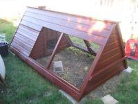 British Made Wooden Chicken Ark, Hen House, Run, Hutch