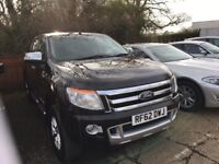 Ford Ranger 3.2 Limited in Black, roller shutter, tow bar, revers camera,