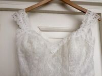 Brand new ivory lace corset back designer dress (never worn)