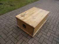 Solid Antique Pine Blanket Box, Toy Box