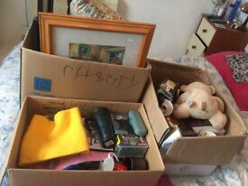 3 x boxes car boot items