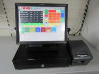 Epos till system for restaurant, cafe, offlicence, shop. Cash till register.