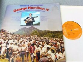 George Hamilton IV With Arthur Smith And The Crossroads Quartet ‎– Singin' On The Mountain LP
