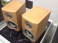 pair of sharp loudspeakers