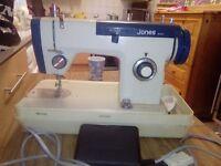 Vintage jones 942 sewing machine O.N.O plus free singer 210 k