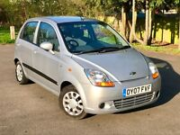 Chevrolet Matiz 1.0 SE 5 door, 1 YEAR WARRANTY, like yaris corsa clio micra