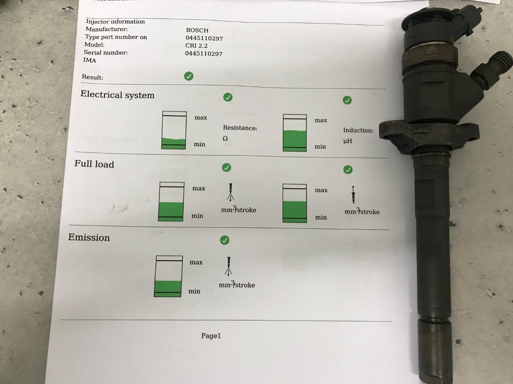 0445110297 Bosch Injector