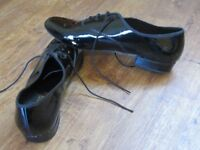 Men's patent modern ballroom dance shoes, size 10, Freed of London