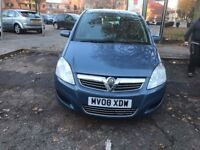 Vauxhall ZAFIRA 1.6 PETROL MPV FULL HISTORY 2008 £1795
