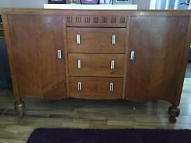 Vintage oak 1950s sideboard - £125