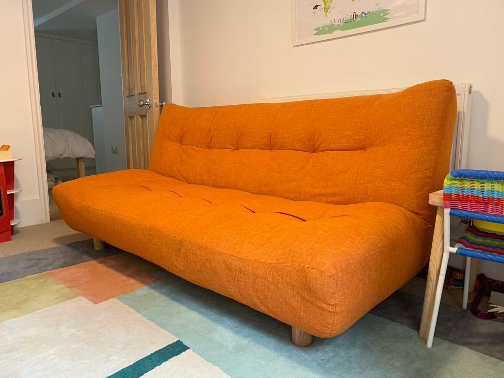 Habitat Kota Orange 3 Seater Sofa Bed