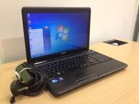 Toshiba c660 laptop with webcam - Windows 7, wifi, office