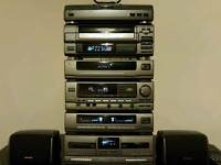 Aiwa classic hifi stereo system with surround sound 6 stacks very good condition