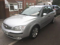 ** TURBO DIESEL ** 05 REG FORD MONDEO SILVER 2.0 TDCI 5 DOOR HATCH F.S.H