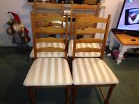 Four dining chairs