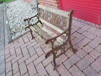 Children's Noah's ark cast iron garden bench.