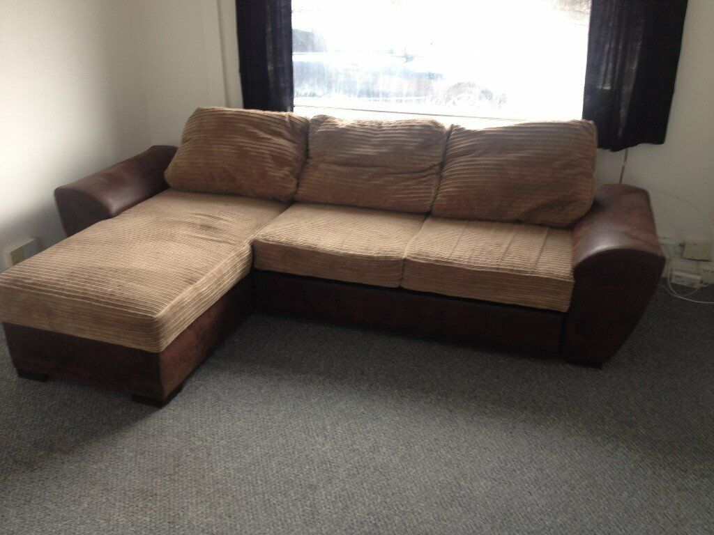 L shaped Corner sofa with pull out bed   in Baguley ...