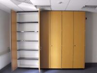 Filing Cabinets, Rolling Shelving, Book shelves, Low level cupboards. All stock must go.