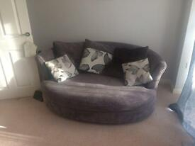 Lovely dfs sofas only a year old in great condition selling very cheap