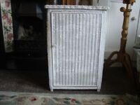 Lloyd Loom white cupboard for sale in Cardiff area
