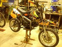 pit bike 125cc lifan rockstar 2014 stunt pitbike. Used at stunt shows.