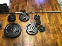 Weights and Olympic Bar
