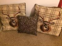Set of three scatter cushions