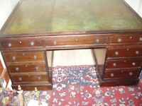 large /partners .pedstall desk /mahogany /good original,colour/solicitors/office/item