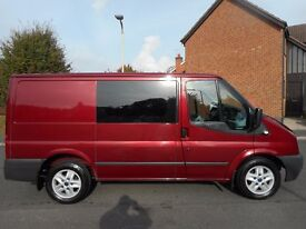 FINANCE ME!! NO VAT!!2012 Ford transit 6 Seat Crew Van with 95k .Full service history in Pepper Red.