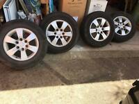 Mitsubishi L200 warrior 17inch alloy wheels and tyres