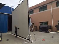 Rear Projection Screen 6.5 x 4.5, massive, free standing or hanging
