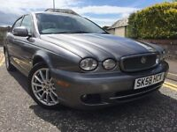 *3 MTHS WARRANTY*2008(58)JAGUAR 2.0 DIESEL X TYPE WITH 86K FSH*HALF LEATHER CRUISE*DRIVES GREAT*