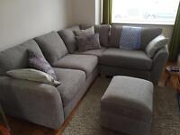 Sophia Corner Sofa and Footstool