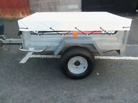 TRAILER ERDE 142 GALVANISED TIPPER TRAILER 5 X 3.5 APPROX COVER AND SPARE WHEEL