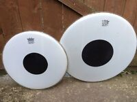 "Drums - Remo CS Dot Smooth White Drumheads 16"" and 13"""
