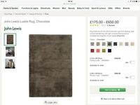 Brand New John Lewis Lustre Rug in Chocolate Brown
