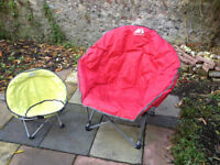 Camping moon chairs (adult & child) by Eurohike
