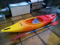 RTM SOLO Kayak for Sea, Rivers and lakes. Paddle included.