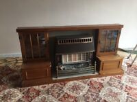REDUCED - Wood Fire Surround with Gas Fire