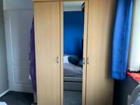 Beech triple wardrobe sensible offers as need gone