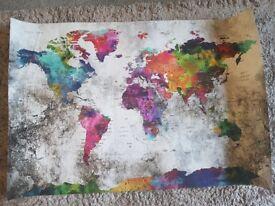 World Map art work