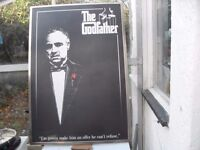 A RARE EXAMPLE FROM THE GODFATHER FILM POSTER IN HARDFRAME FULL SIZE IN MINT CON CAN DELIVER
