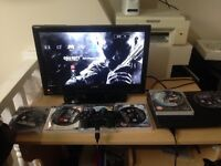 Ps3 super slim 120gb comes with all wires brand new controller and 5 games want 100 but can lower
