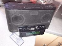 Sony XDR- DS12iP Ipod/Iphone DAB Radio Docking System with working remote