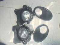 NISSAN QASHQAI 2012 FRONT BUMPER FOG LIGHTS WITH HOLDERS