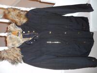 Topshop Ladies Black Coat size 8, Excellent Condition